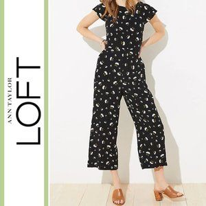 Loft | 'Lily' Daisy Floral Cropped Jumpsuit